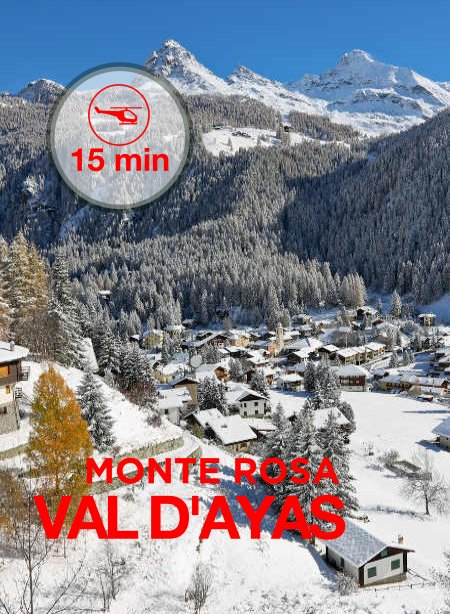 Val d'Ayas - Monte Rosa 10 minute flight from Aosta