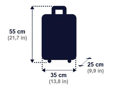 Dimensioni consentiti bagagli a mano