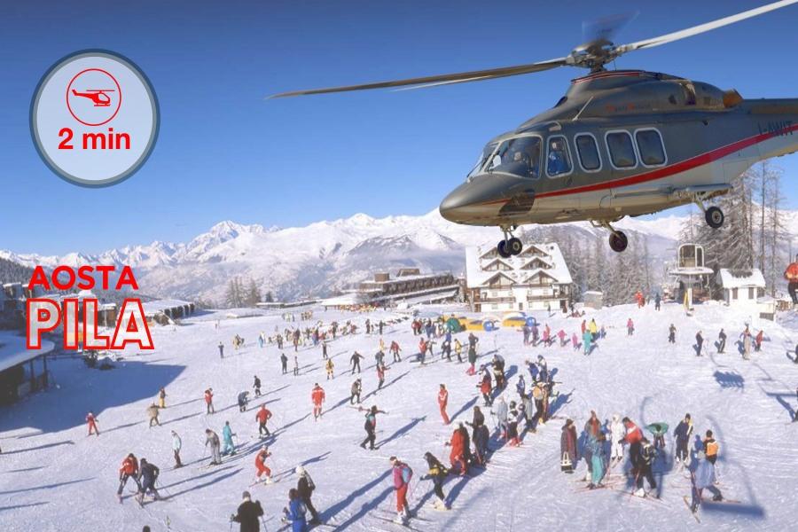 Pila - 2 minuti da Aosta, 2 minutes far from Aosta, 2 minute d'Aoste